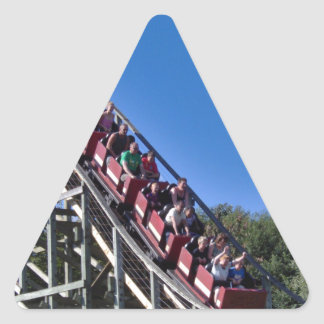 Roller Coaster Triangle Sticker