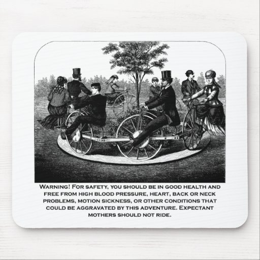 Roller Coaster Warning Mouse Pad