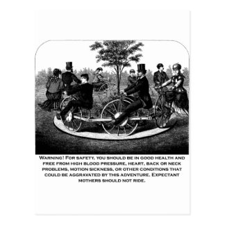 Roller Coaster Warning Postcard
