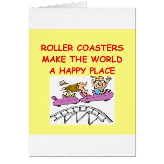 roller coasters card