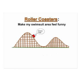 Roller Coasters Feel Funny Postcard