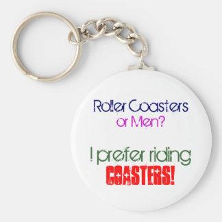 Roller Coasters , or Men? Basic Round Button Keychain