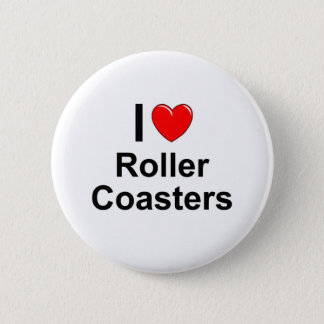 Roller Coasters Pinback Button