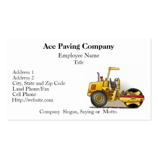 Roller Construction Business Cards