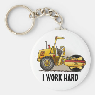 Roller Construction Key Chain I Work