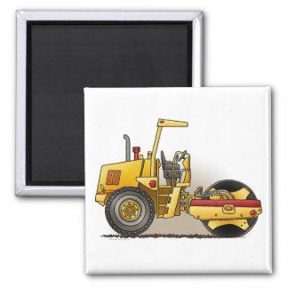 Roller Construction Square Magnet