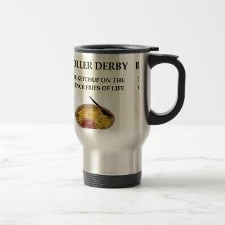 roller derby 15 oz stainless steel travel mug