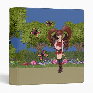 Roller Derby Anime Fairy Skating Vinyl Binders