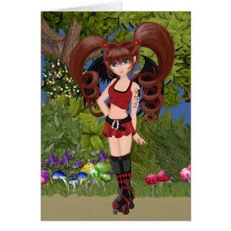 Roller Derby Anime Fairy Skating Card