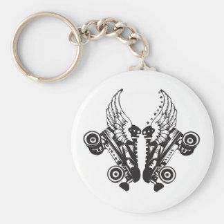 roller derby basic round button keychain