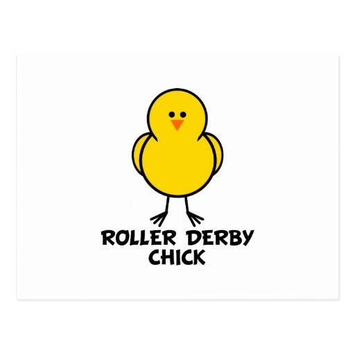 Roller Derby Chick Postcard