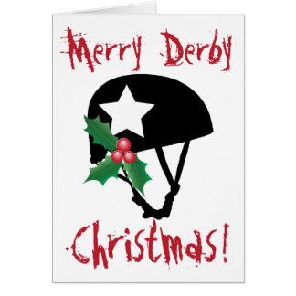 Roller Derby Christmas, Roller Skating Card
