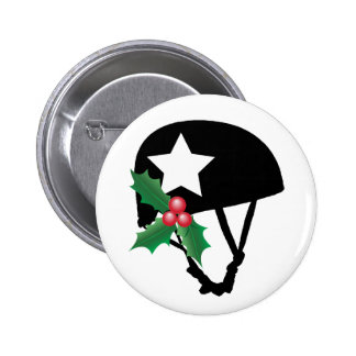 Roller Derby Christmas, Roller Skating Pinback Button