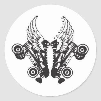 roller derby classic round sticker