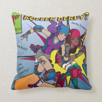 Roller Derby Comic Pillow