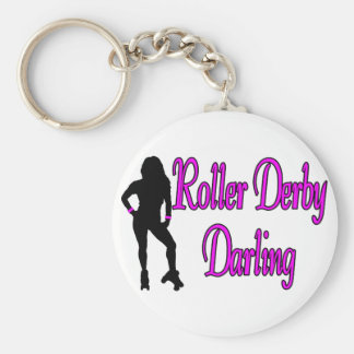 Roller Derby Darling Keychain