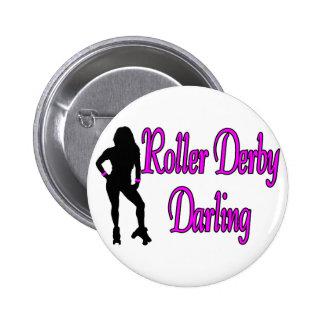 Roller Derby Darling Pinback Button