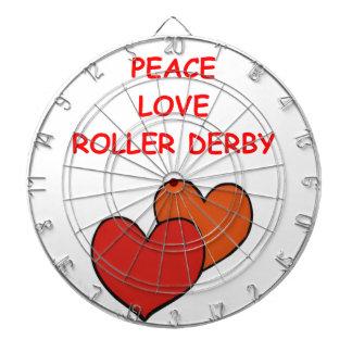 roller derby dartboard with darts