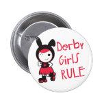 Roller Derby - Derby Girls Rule Button