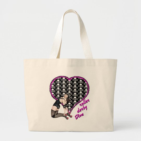 roller derby Diva Large Tote Bag