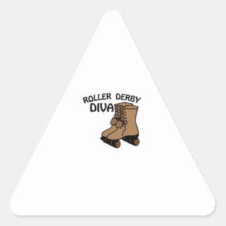 Roller Derby Diva Triangle Sticker