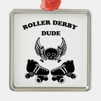 Roller Derby Dude Metal Ornament