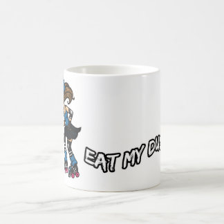 Roller Derby Eat my Dust Classic White Coffee Mug