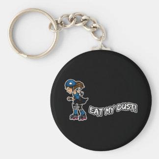 Roller Derby Eat my Dust Basic Round Button Keychain