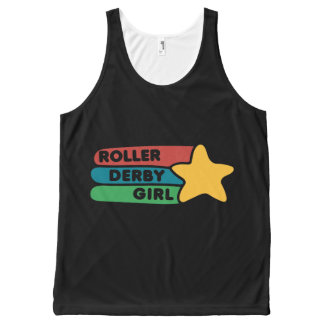 Roller derby Girl All-Over-Print Tank Top