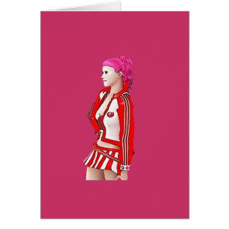 Roller Derby girl Card