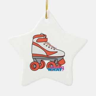 Roller Derby Girl Ceramic Ornament
