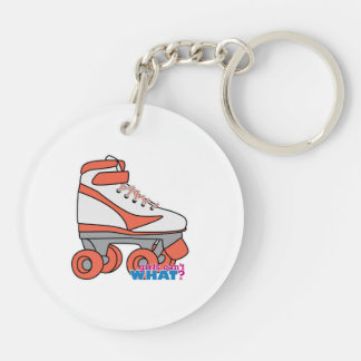 Roller Derby Girl Keychain