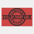Roller Derby Girl Limited Edition, Skating Design Rectangular Sticker