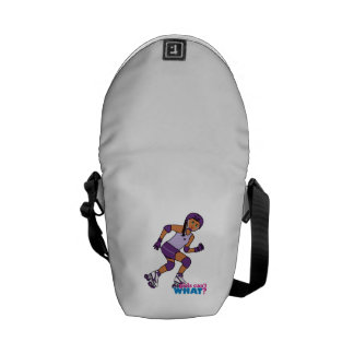 Roller Derby Girl Courier Bags