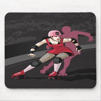 Roller Derby Girl Mousepad