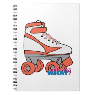Roller Derby Girl Spiral Notebook
