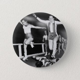 Roller Derby Girl Pinback Button