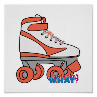 Roller Derby Girl Posters