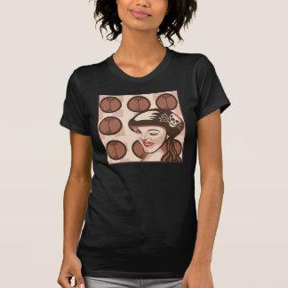 roller derby girl tee shirt