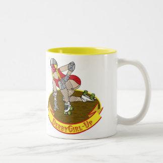 roller derby girl up mug