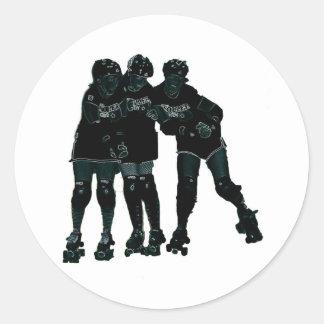 Roller Derby Girls Round Sticker