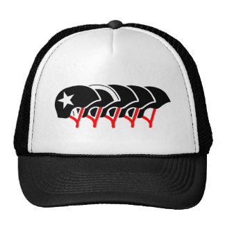 Roller Derby helmets (black design) Trucker Hat