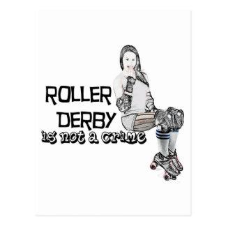 Roller Derby is not a crime Postcard