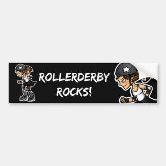 Roller Derby Jammer black and white Bumper Sticker