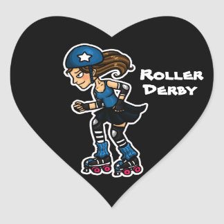 Roller Derby Jammer Heart Sticker