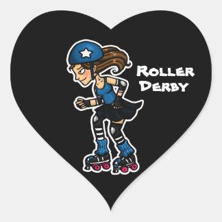 Roller Derby Jammer Heart Sticker