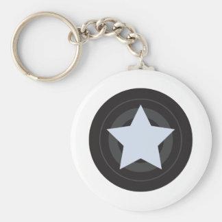 Roller Derby Jammer Basic Round Button Keychain