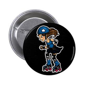 Roller Derby Jammer Pinback Button