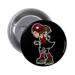 Roller Derby Jammer red 2 Inch Round Button