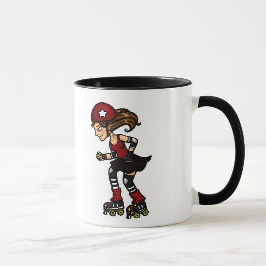 Roller Derby Jammer red Mug